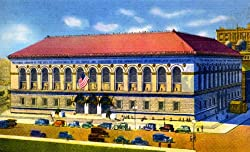 Boston Public Library, ca. 1935 - Fine-Art-Quality Photographic Print - 8x10-inch Enlargement from a Classic Vintage Postcard