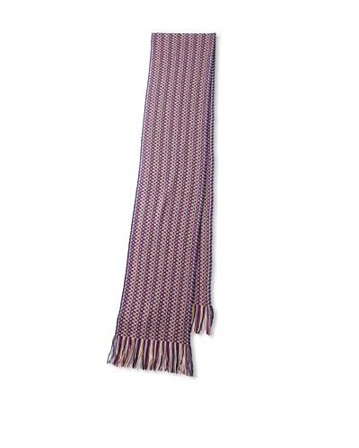 Missoni Women's Wide Stripe Scarf, Pink/Brown