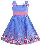 Sunny Fashion Robe Fille Bleu Punaise...