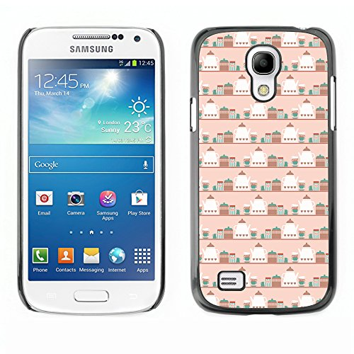 Kingstore [Tea And Kettle] Hard Plastic Case For Samsung Galaxy S4 Mini