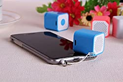 Spider Designs ICE CUBE Bluetooth Speakers, Shutter Button, Hands Free and Anti Theft Device (Blue)