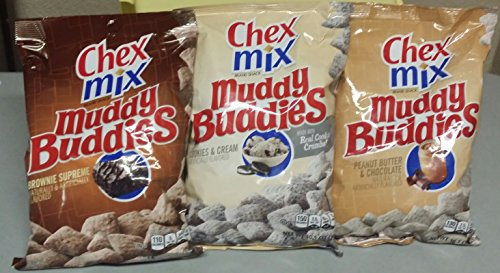 Chex Mix Muddy Buddies Variety Pack (Including Peanut Butter Chocolate, Cookies and Cream, Brownie Supreme) (Chex Mix Chocolate Peanut Butter compare prices)