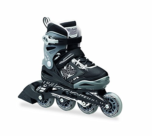 PHOENIX - 4 Size Adjustable Junior Skate 2016 , Black/Silver Flash, 5 to 8 Adjustable (Rolling Blades compare prices)