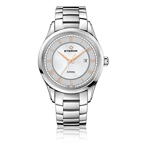 Eterna 2520.41.56.0274 - Reloj de pulsera hombre, acero inoxidable, color plateado
