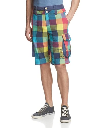 Desigual Men's Coralie Plaid Short
