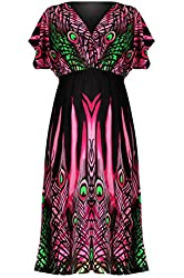 G2 Chic Women's Floral Patterned Overall Dress