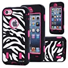 Cocoz® Deluxe Printed Hard Soft High Impact Hybrid Armor Defender Case Combo for Apple Iphone 5c