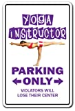 YOGA ~Novelty Sign~ parking signs workout gym gift