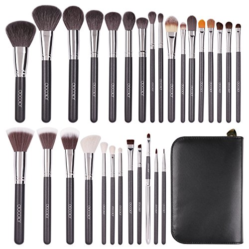 Docolor 29Pcs Professional Makeup Brushes Set Goat Hair Foundation Eyeshadow Kits with PU Leather Makeup Case (Goat Hair Make Up Brushes compare prices)