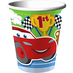 Disney/Pixar Cars 1st Birthday Champ 9 oz. Party Cups 8 Pack from Hallmark
