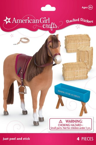 American Girl Crafts Chestnut Horse Stacked Stickers - 1