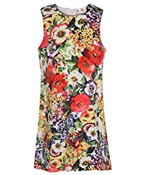 Chipchop Girls' Dress (WFGD0033M_Multi-Coloured_3-4 Years)