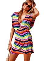 V-Shape Cover Up Beach Dress - Small/Medium - Rainbow