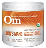 Om Organic Mushroom Nutrition Lion's Mane: Memory, Focus, Nerve Health, 100 servings, 7.14 Ounce, 200 grams
