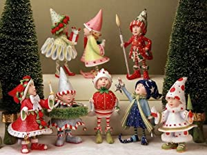 Patience Brewster Krinkles Dash Away Elf Set Of 8