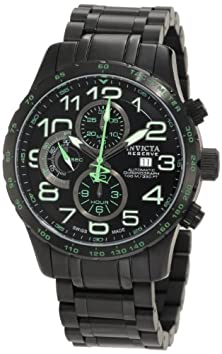 buy Invicta Men'S 0594 Reserve Automatic Chronograph Black Ion-Plated Stainless Steel Watch
