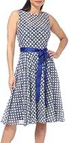Isaac Mizrahi Diamond Floral Ribbon Belted Dress