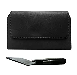 Fastway PU Leather Holster Carry Case Cover Pouch with Belt Clip for Micromax Canvas Juice 3 Q392