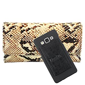 DooDa PU Leather Wallet Flip Case Cover With Card & ID Slots For iBall Andi 5 E7 - Back Cover Not Included Peel And Paste