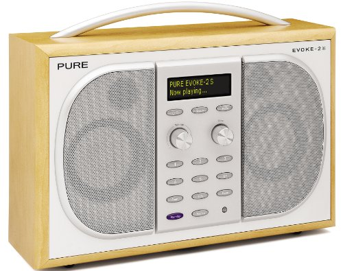 PURE EVOKE-2S, Luxury Portable Stereo DAB/FM Radio - Maple