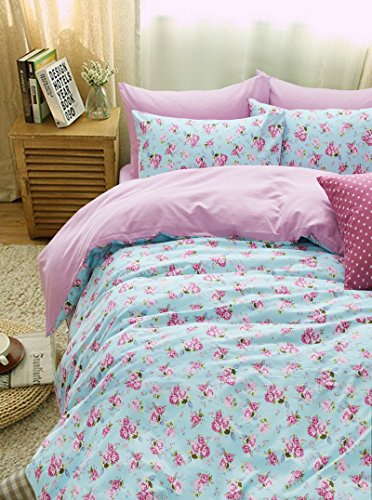 Plants And Flowers Floral Pink Bedding Duvet Cover Set Gift Idea Girls Bedding Teen Bedding Kids Bedding, Full Size
