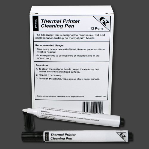 Thermal Printer Cleaning Pens, Box of 12
