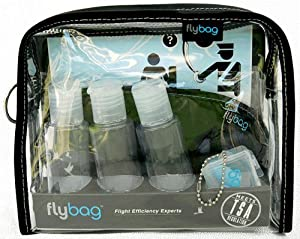 Flybags - TSA Compliant Toiletry Bag with Gray Stitching
