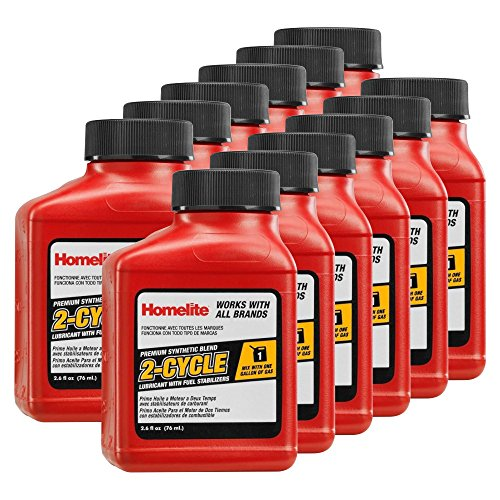 12 pack of homelite ac99g01 2 6 oz 2 cycle synthetic for How often to change synthetic blend motor oil