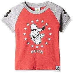 Fox Baby Boys' T-Shirt (Red Melange_12-18 M_327610)