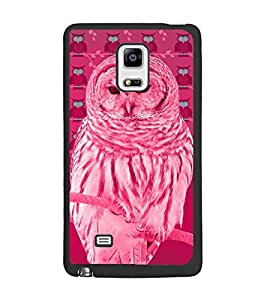 PrintDhaba Owl D-3258 Back Case Cover for SAMSUNG GALAXY NOTE 4 (Multi-Coloured)