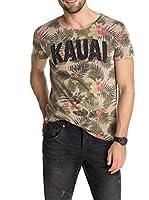 Esprit Camiseta Manga Corta (Caqui)