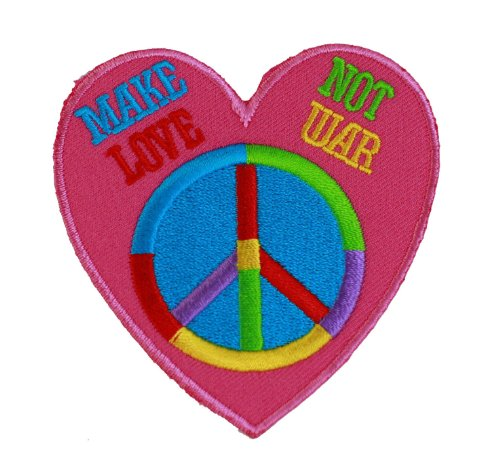 Manufacturer Make Love Not War Heart Iron On Patch For Kids Baby - High Quality