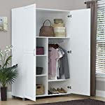 Solid Closet Storage Wardrobe Armoire Cabinet Bedroom Furniture Clothes Wood Organizer New White Dresser
