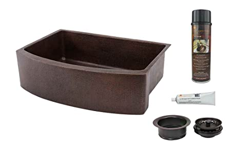 33 in. Kitchen Apron Single Basin Sink with Drain Package