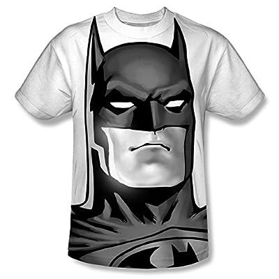 DC Batman BW Bat Head All Over Youth Front T-Shirt
