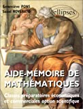 echange, troc Geneviève Pons, Suzel Roverato - Aide mémoire de mathématiques, classes prépas économiques et commerciales : Nouveaux programmes