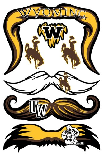StacheTATS Wyoming Temporary Mustache Tattoos - 1