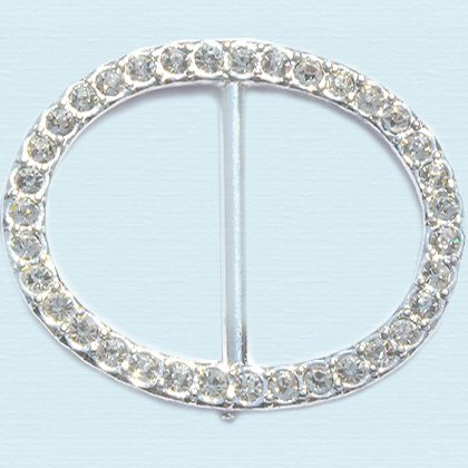 Czech Crystal Fashion Buckle ~Style 26602 Oval ~ 35 Small Stones (1pc)