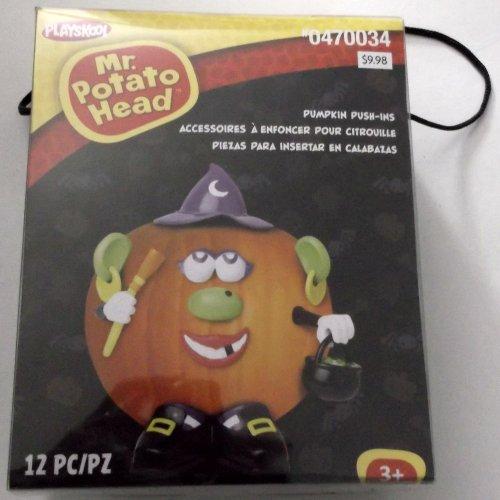 Gemmy Plastic Pumpkin Push-in Decorating Kits Tabletop Halloween Decoration