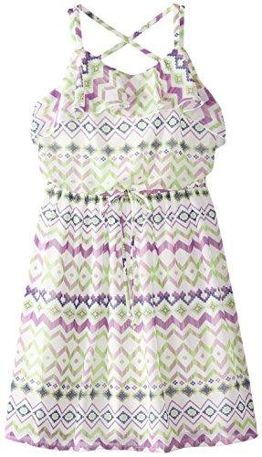 Speechless Big Girls' Printed Chiffon Ruffle Dress