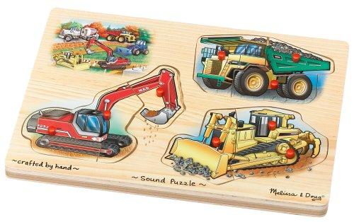 Cheap Fun Melissa & Doug Deluxe Wooden Construction Sound Peg Puzzle (B0007WKWV8)