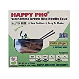 Happy Pho Zesty Ginger Vietnamese Brown Rice Noodle Soup, 4.5 Ounce -- 6 per case.