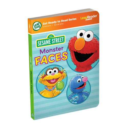 LeapFrog LeapReader Junior Book: Sesame Street Monster Faces (works with Tag Junior) - 1