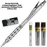Pentel 5-piece Set, Pg1013e, 0.3mm Graph Gear 1000 Automatic Pencil
