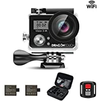 Dragon Touch Vision 3 4K Ultra HD WiFi 16MP Sports Action Camera Kit