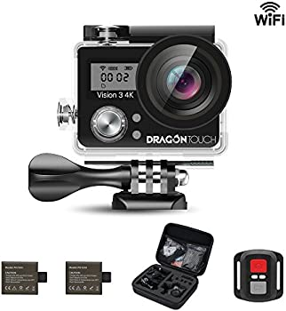Dragon Touch Vision 3 4K UHD WiFi 16MP Sports Action Cam Kit