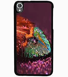 ColourCraft Peacock Feather Design Back Case Cover for HTC DESIRE 820