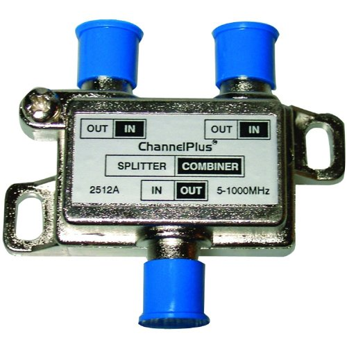 Best Price CHANNEL PLUS 2512 DC + IR Passing 2-Way Splitter/Combiner