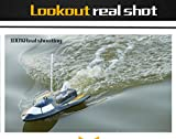 Large Remote Control Boats,Hosamtel@3CH High Powered 7.2V Toy Boat, 8-12min Action Time Plastic Model RC Flying Fish No.Outdoor Toys(White)