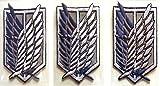 【コスプレ】DREAMPARKアイテム進撃の巨人ハンドメイド刺繍ワッペンアイロン接着式エンブレムセット紋章調査兵団紋章自由の翼団員制服衣装祭服ジャケット使用男女共用リヴァイ兵長エレンミカサアッカーマンアルミン(ネイビーブルー&ホワイト中3枚)DR168
